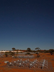 Murchison Widefield Array radio telescope field by moonlight