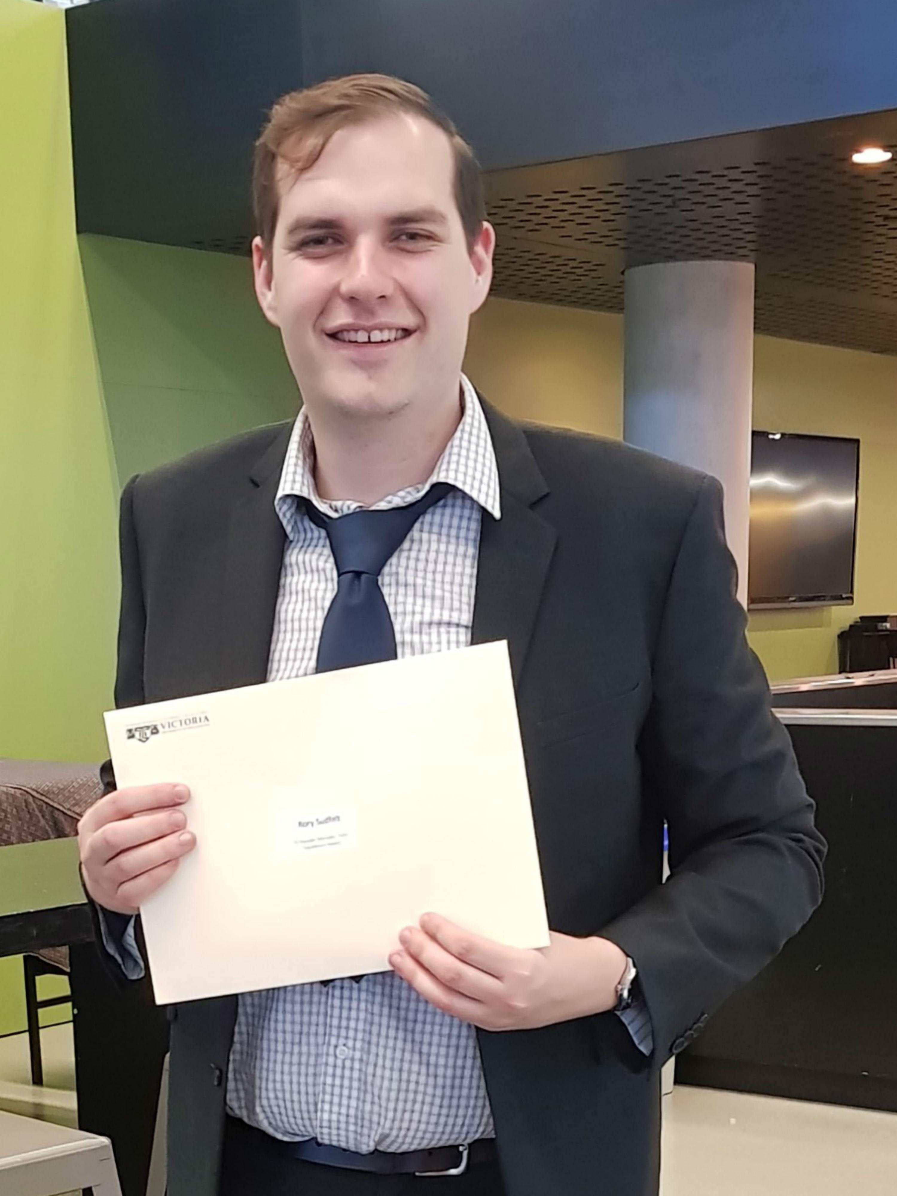 Tutor Excellence Award Rory Sudfelt
