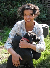 Photo of author Michelle de Kretser with her dog Minnie