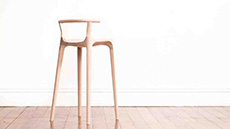 A slender chair design by design student Oscar Pipson