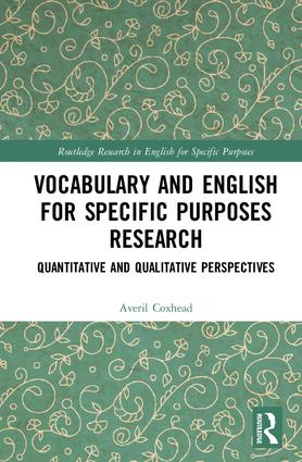 Vocabulary and english for specific purposes research book cover