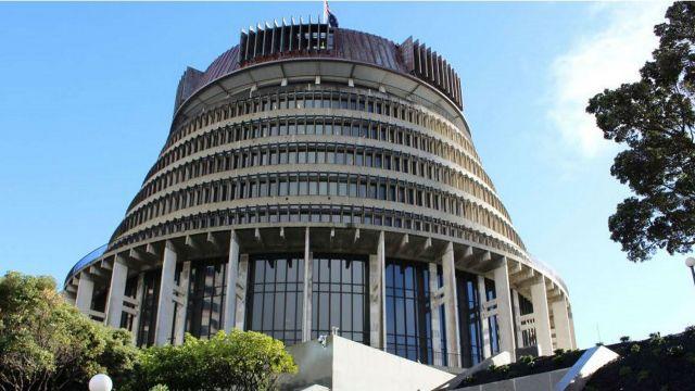 Wellington Beehive Parliament building
