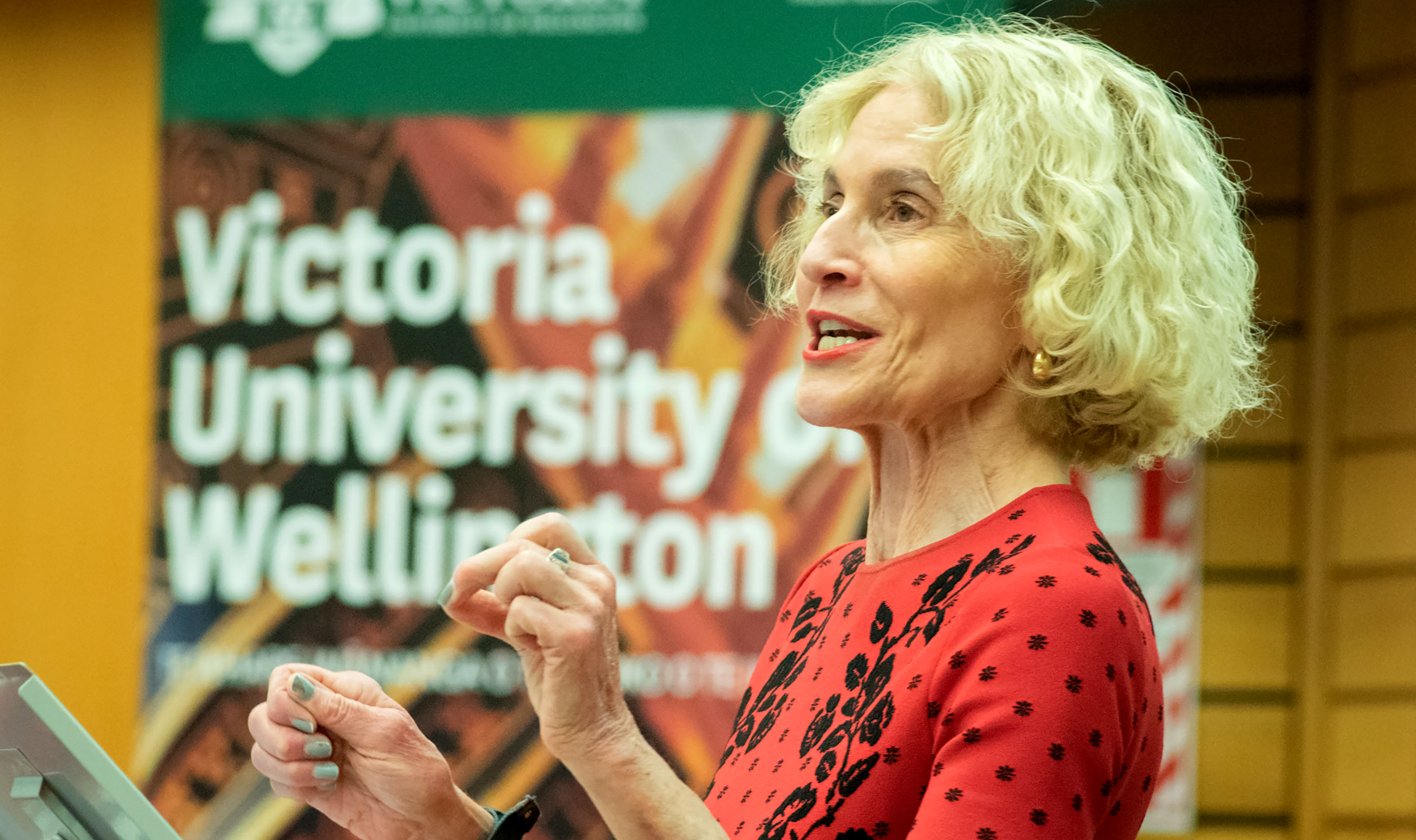 Professor Martha Nussbaum giving the Faculty of Law's annual Borrin lecture