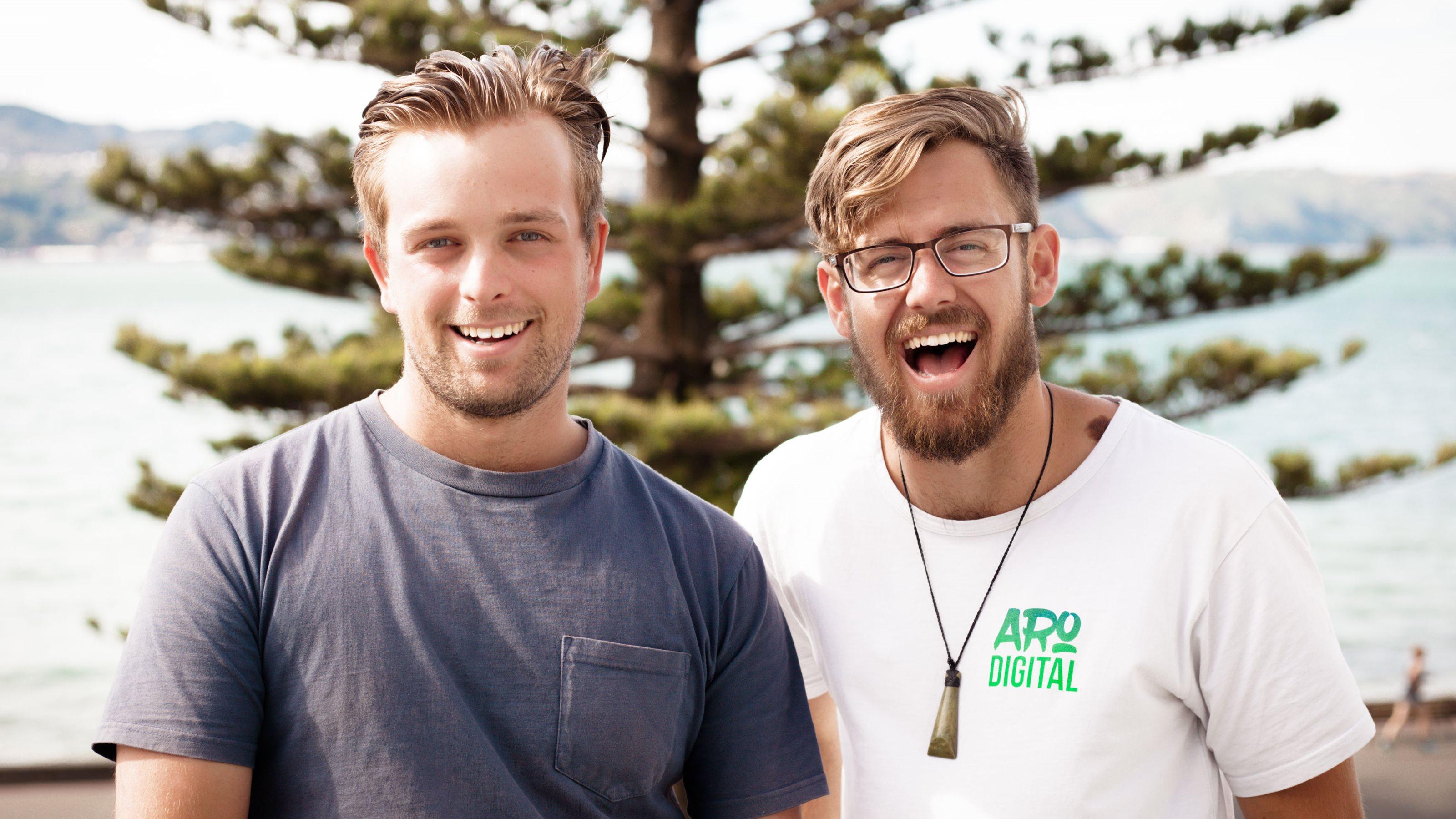 Jonty Hodge and Tim Dorrian from Aro Digital