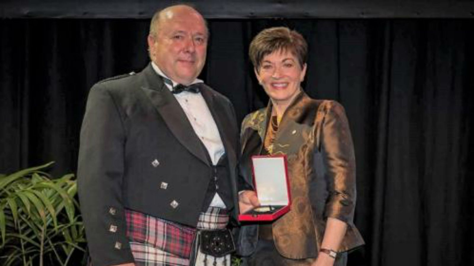 Professor Rod Downey being awarded the Rutherford Medal by the Governor-General of New Zealand, Her Excellency Dame Patsy Reddy, at 2018 Research Honours Aotearoa