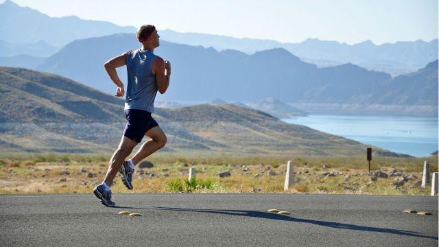 Photograph of a man running.