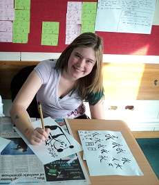 Calligraphy workshop by Stan Chan at Wellington High School