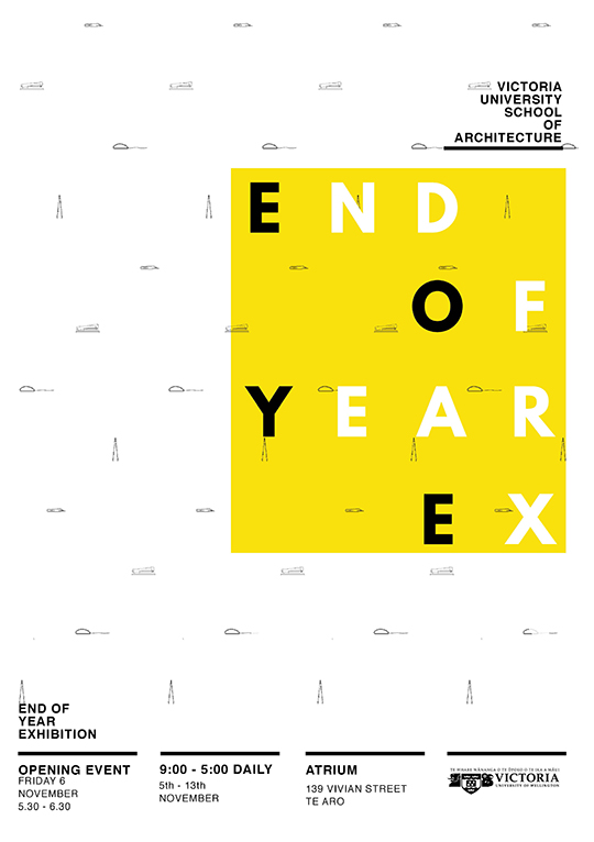 The School of Architecture's exhibition poster.