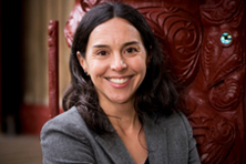 Image of Maria Bargh at Te Herenga Waka Marae