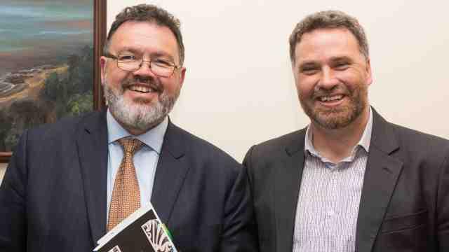 Justice Joe Williams and Dr Carwyn Jones