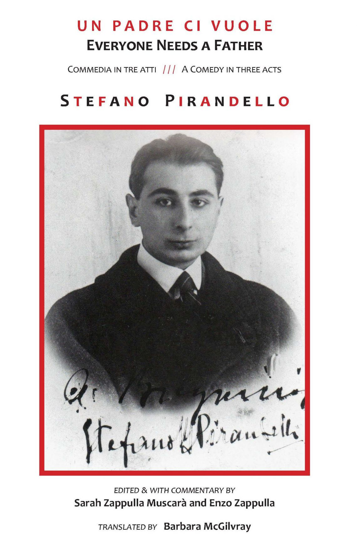 The cover of the English Translation of Everyone needs a father by Stefano Pirandello