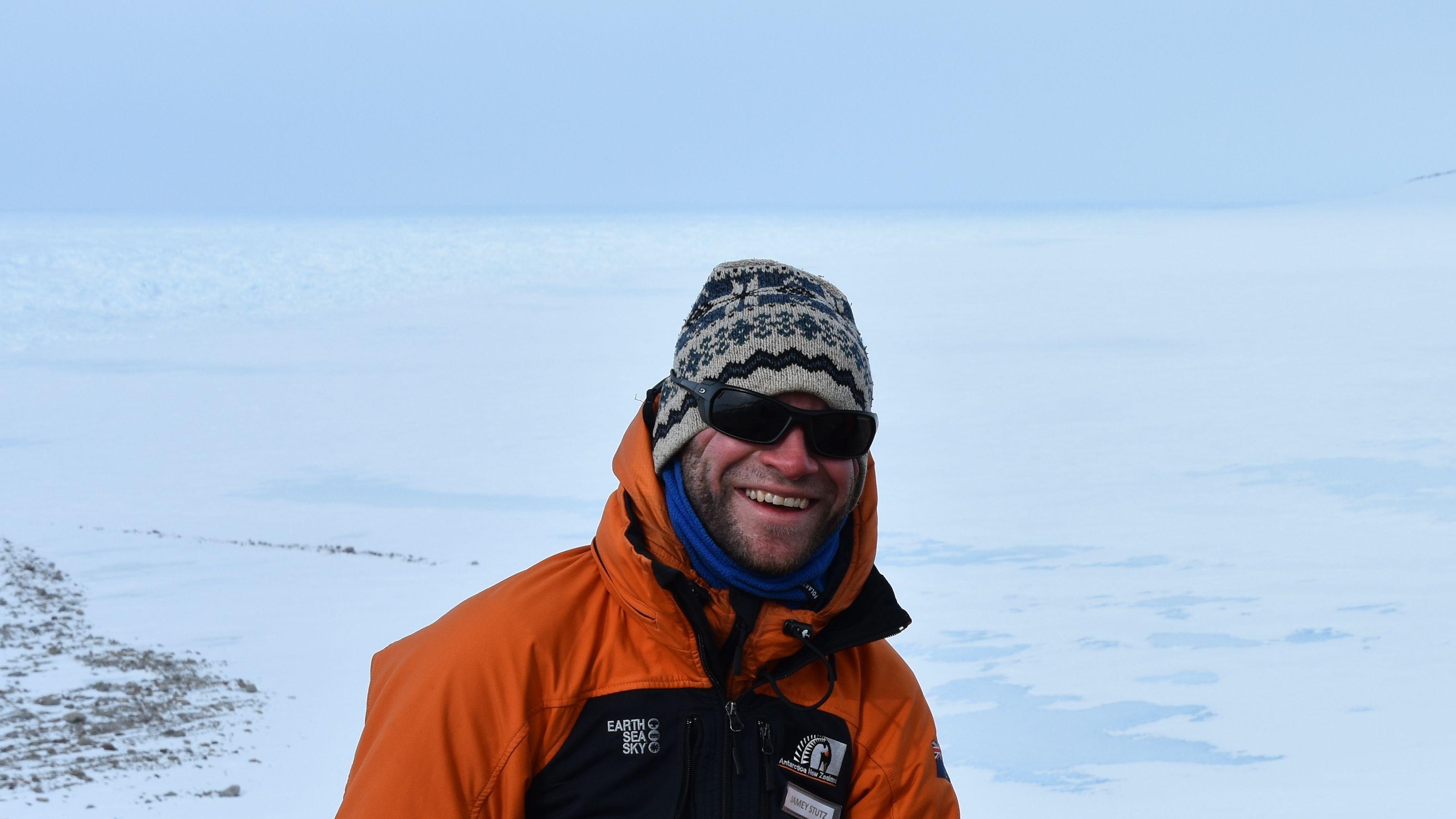 Jamey Stutz in Antarctica