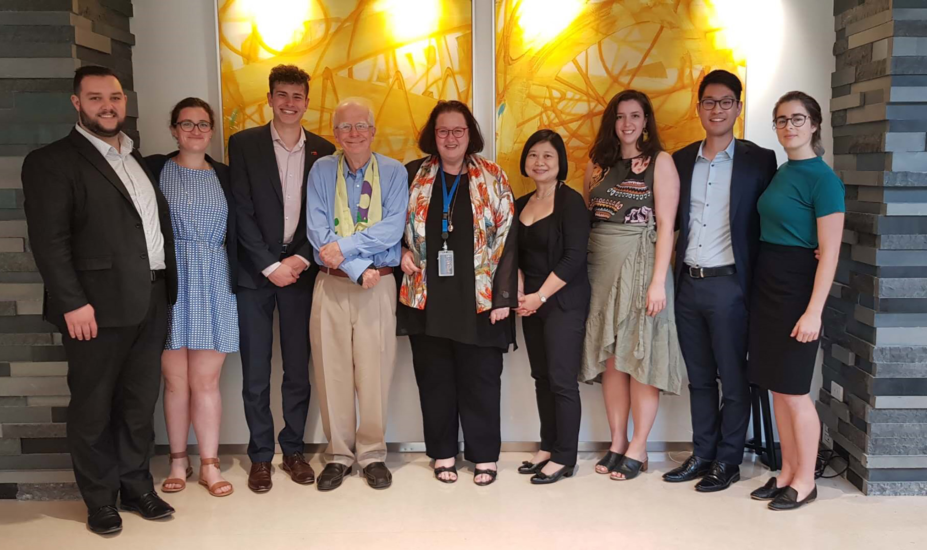 The group of delegates with the NZ ambassador to China