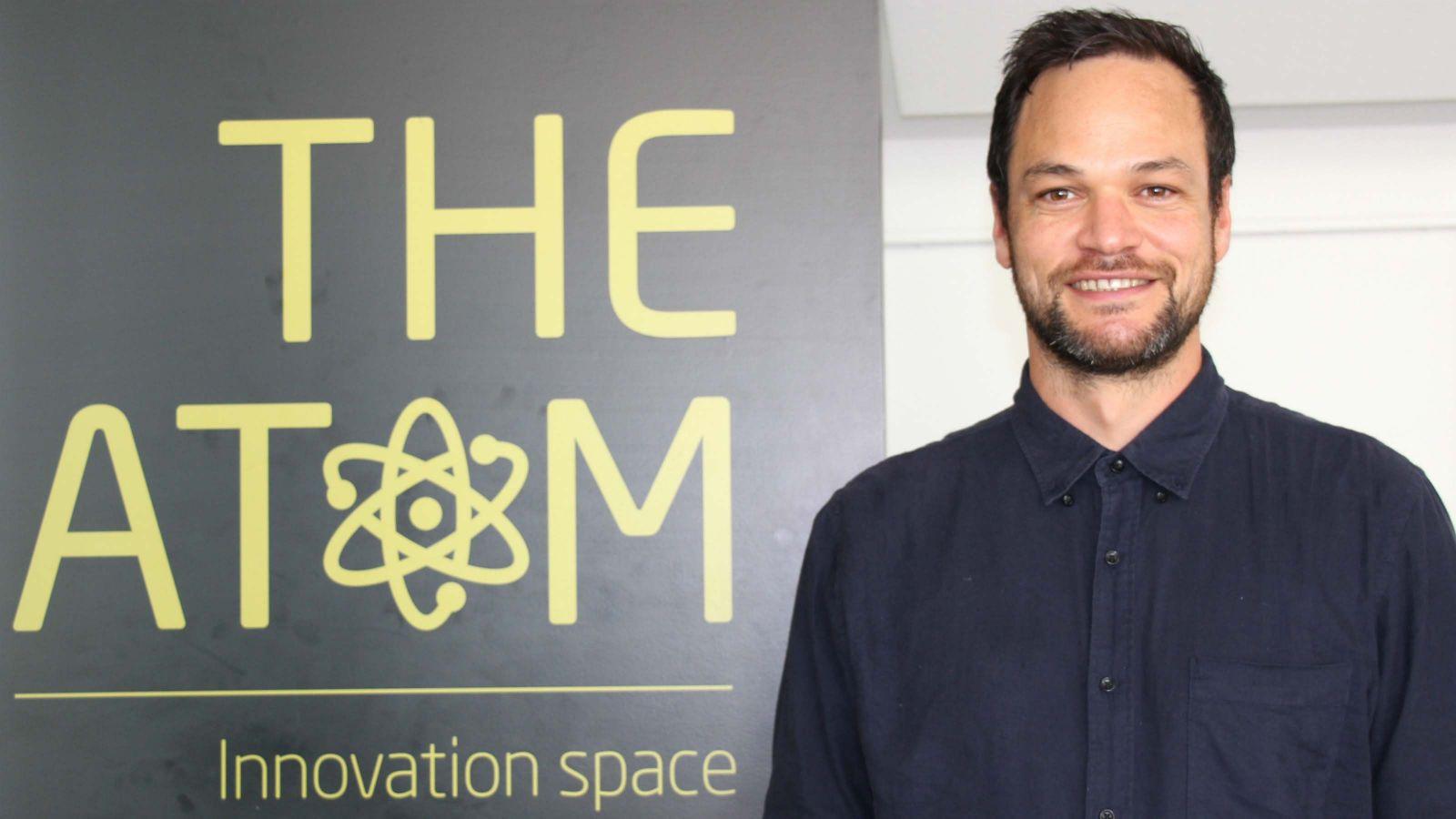 A profile shot of Jesse Pirini