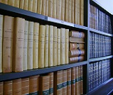 Books in the Law School's Socrates room