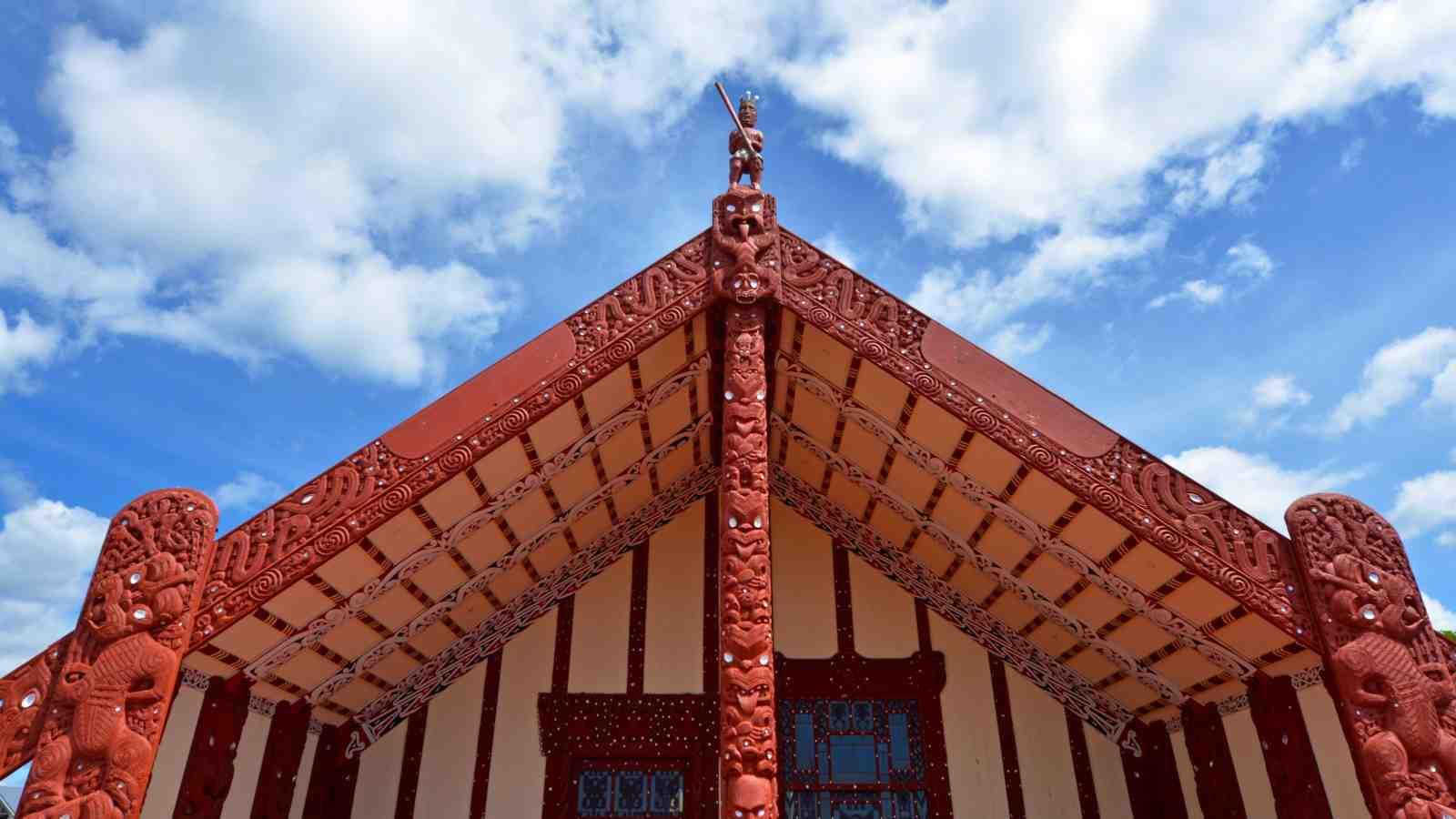 A Māori 'Marae' meeting house