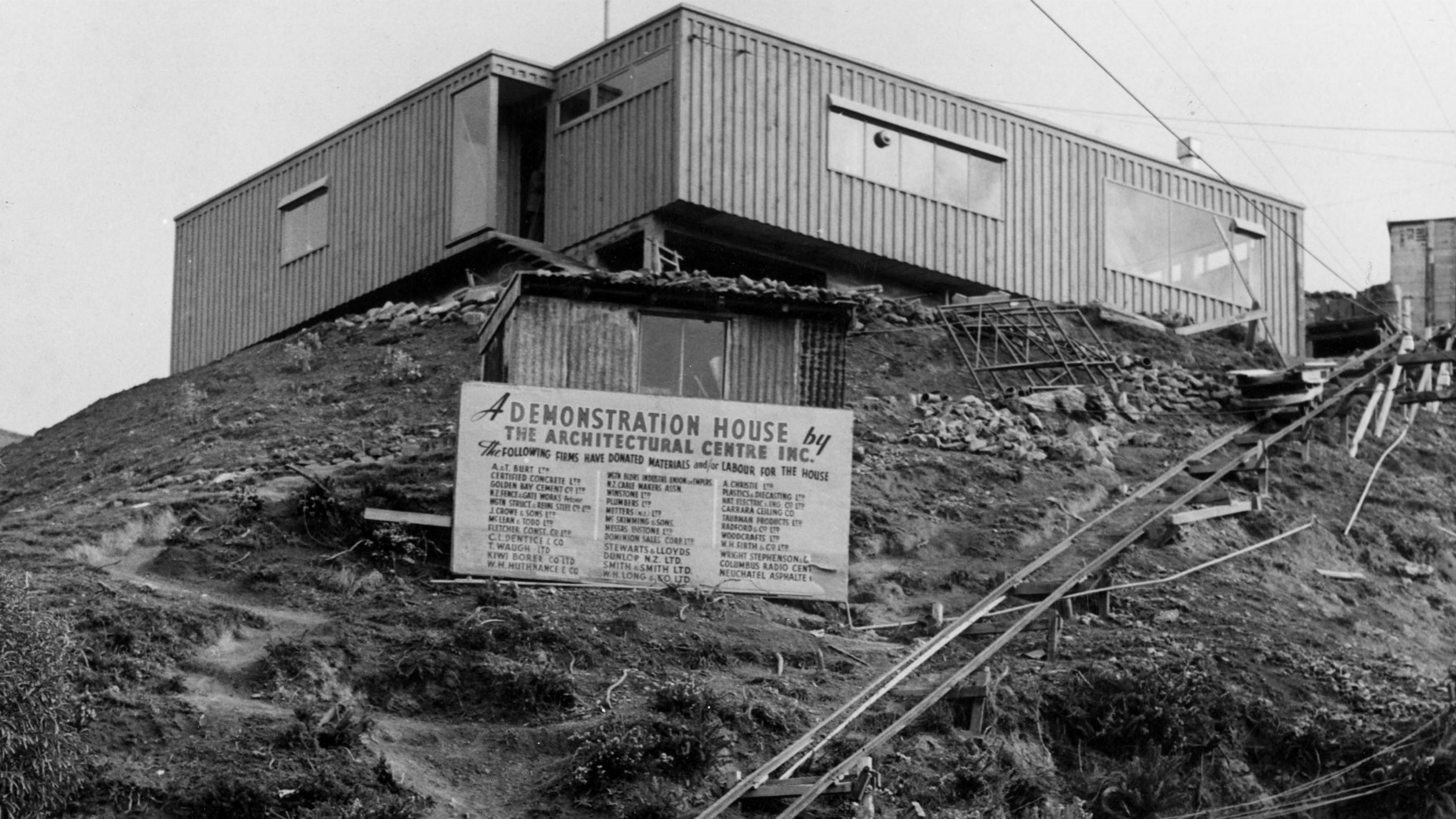 A demonstration house on a hill