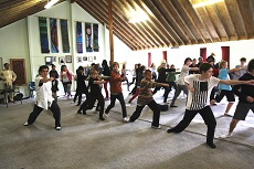 Martial Arts Workshop by Meng Fanxiao at Wellington High School