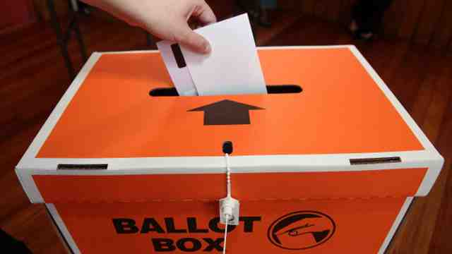 Election ballot box