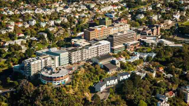 Aerial view of Victoria University of Wellington