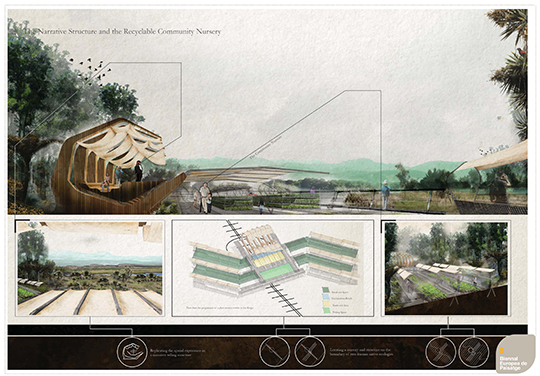 Daniel Roberts entry in the Biennial of Landscape Architecture