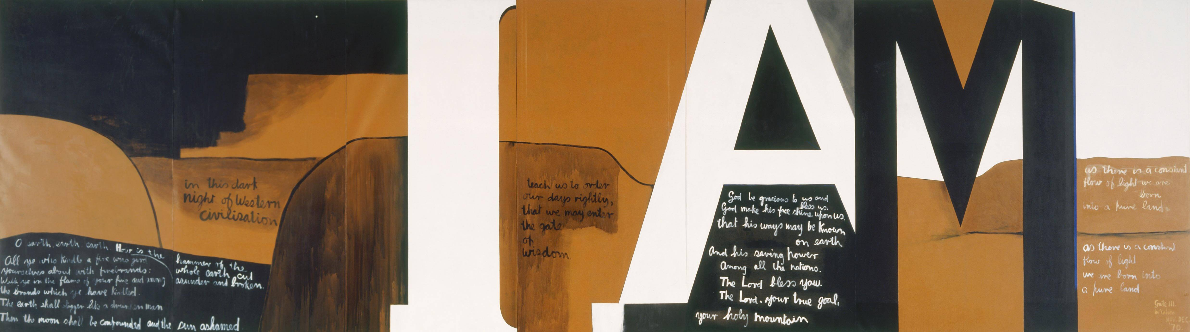 victoria university art history colin mccahon 1919 1987 gate iii 1970 acrylic on canvas