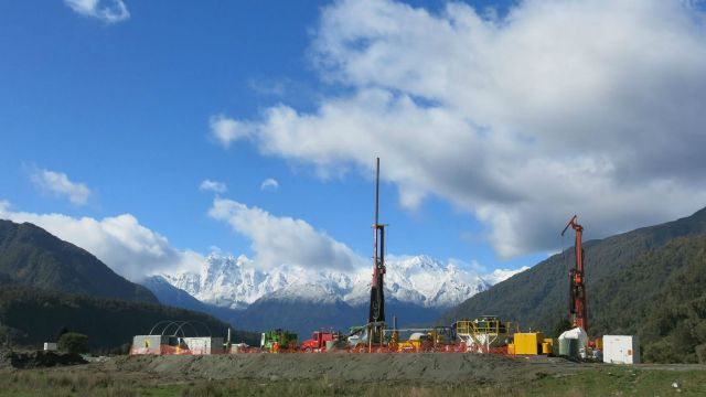 The Deep Fault Drilling Project Site in Westland