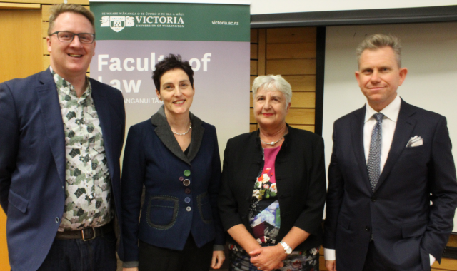 Dr Dean Knight, Professor Claudia Geiringer, Dame Sian Elias, Professor Mark Hickford