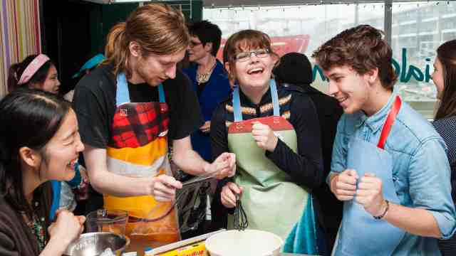 Students involved in Multilingual Masterchef in Wellington