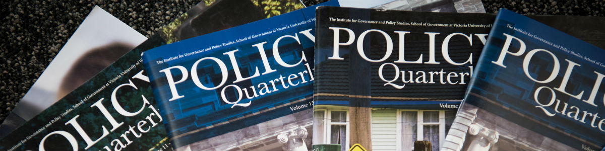 Policy Quarterly | Institute for Governance and Policy