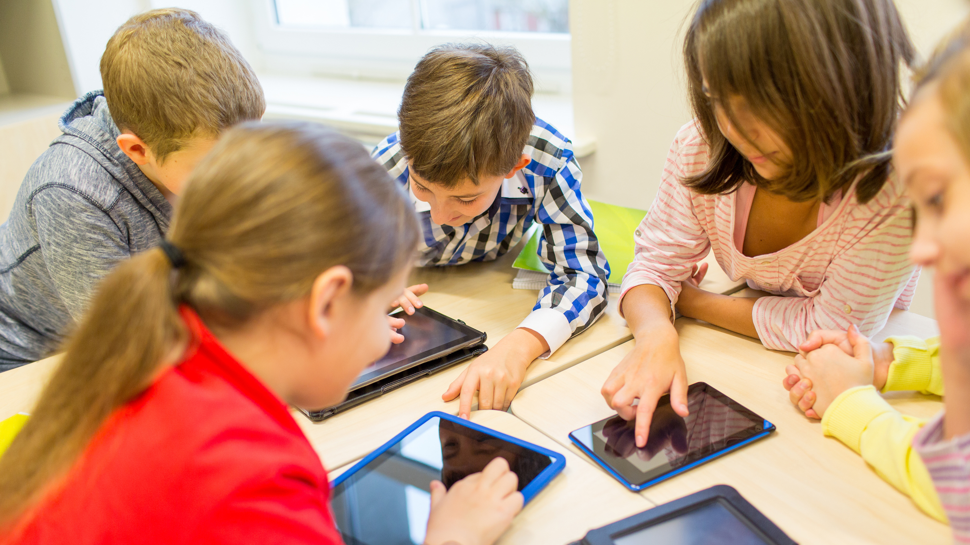 Kids learning with technology