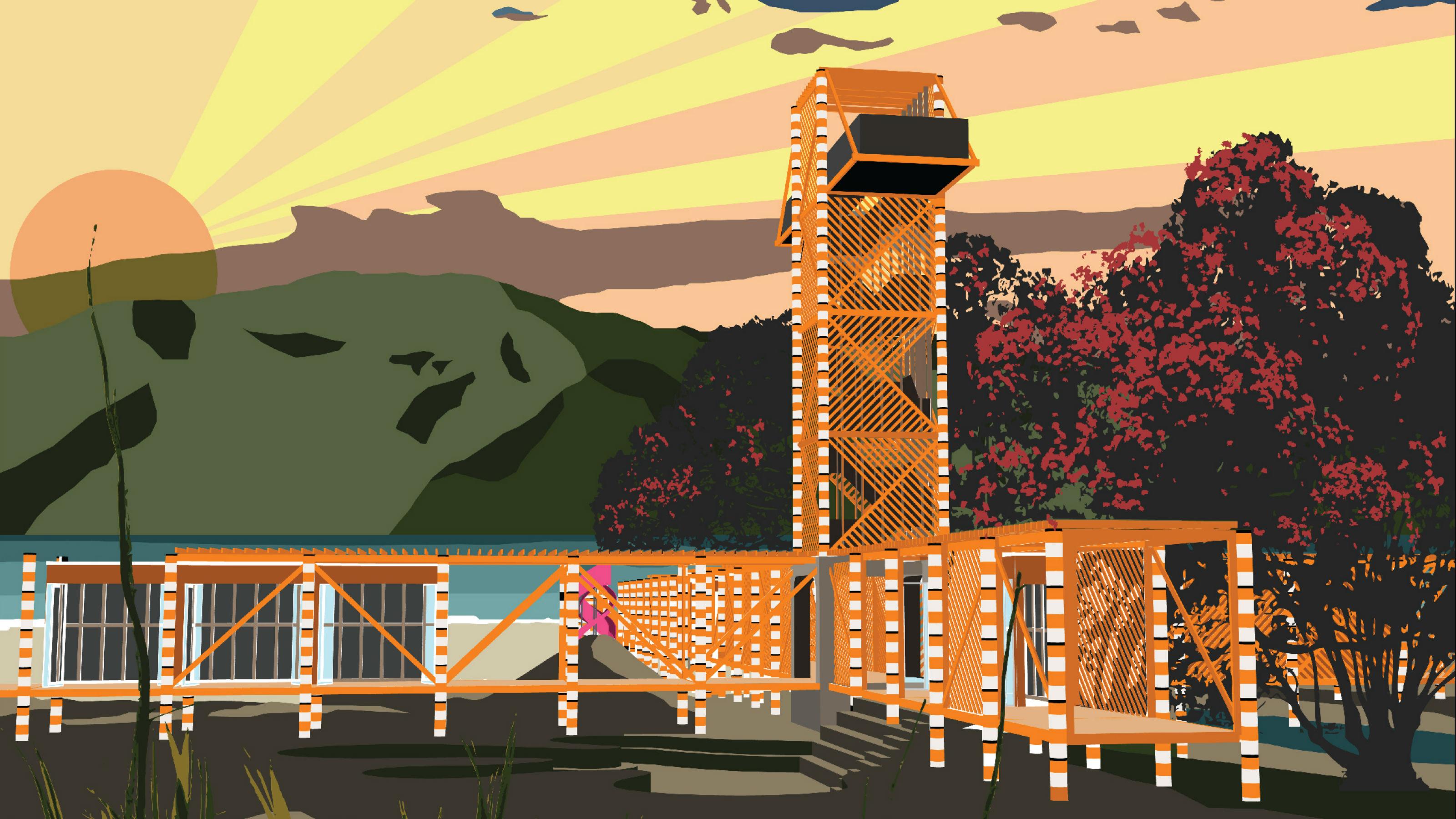 Artist render of watchtower project