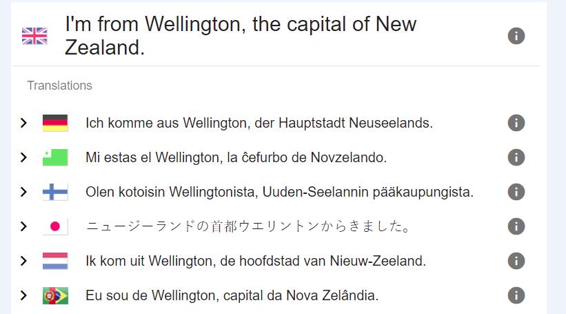 A translated sentence from Tatoeba.