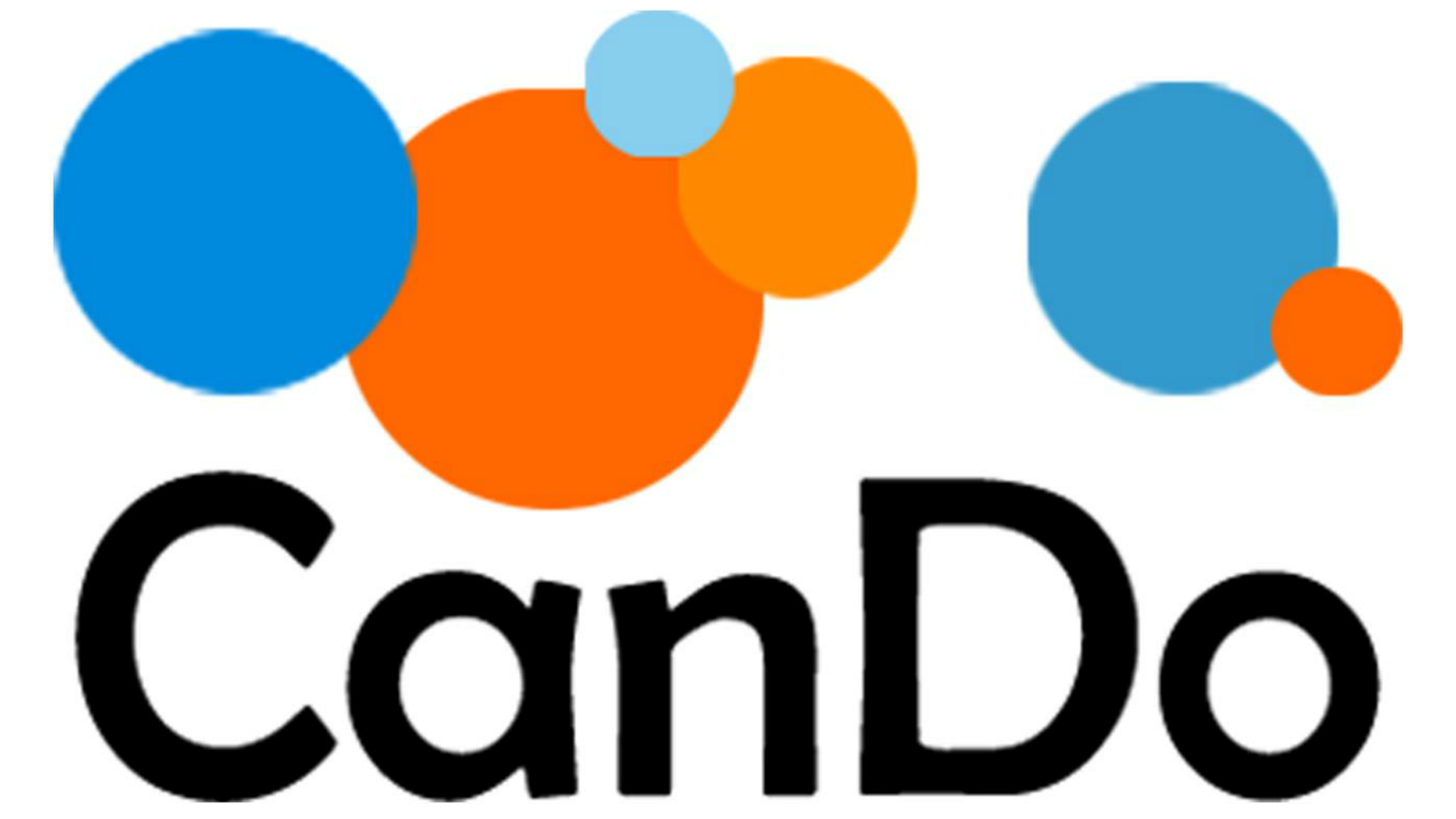 The logo for CanDo, featuring blue and orange circles and the word 'CanDo'.