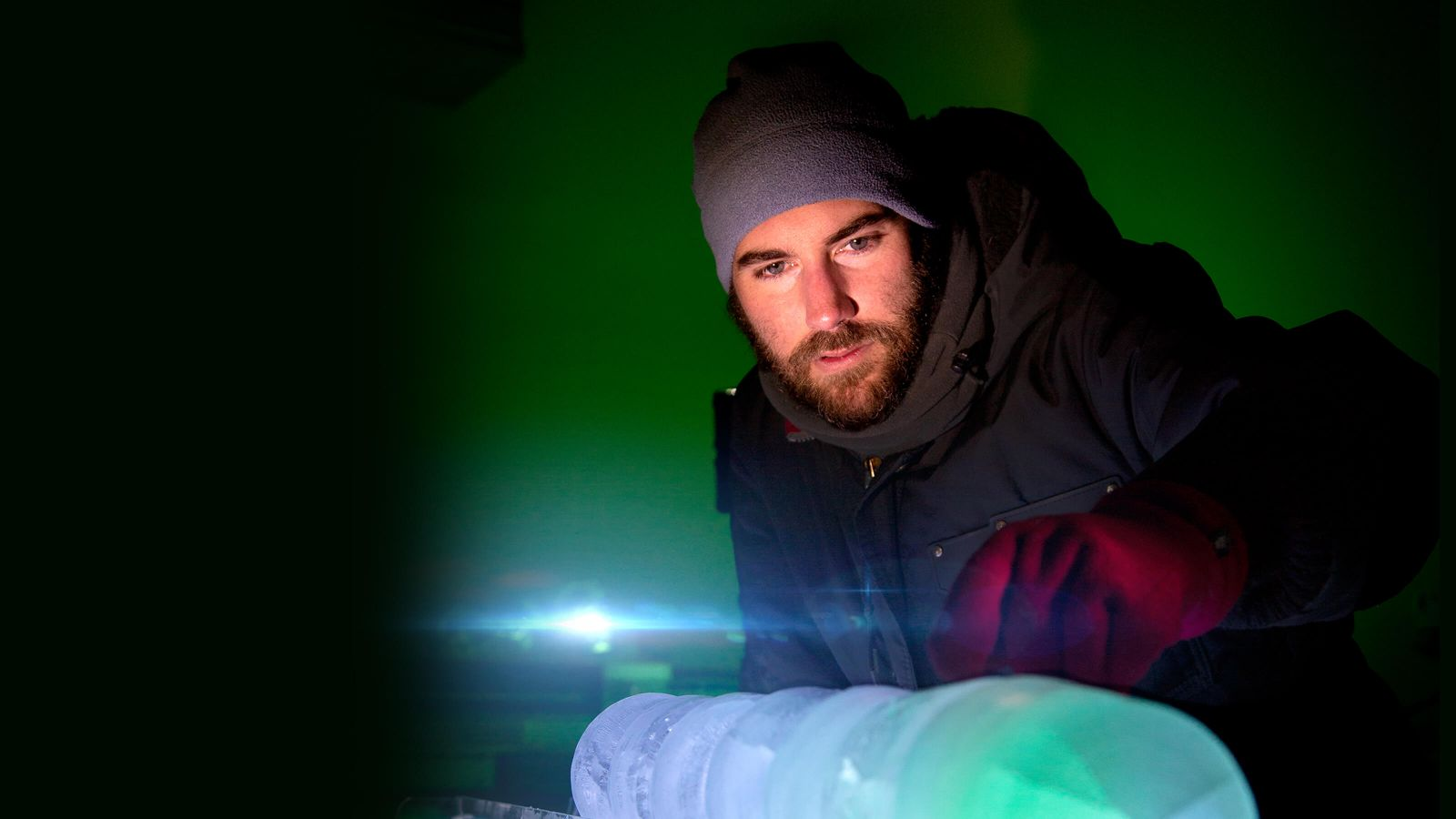 PhD candidate, Dan Lowry, is conducting research on the Ross Ice Shelf in Antarctica.