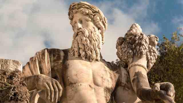 Ancient Roman statute of a man
