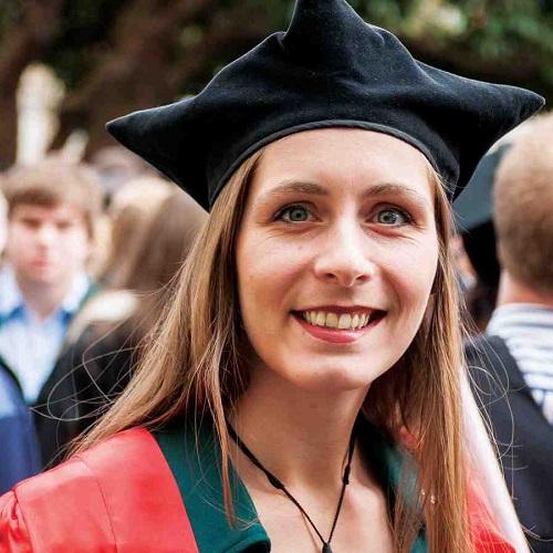 Eleanor Catton in graduation cap