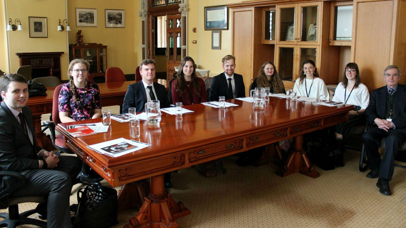 2018 Parliamentary Internship class photo