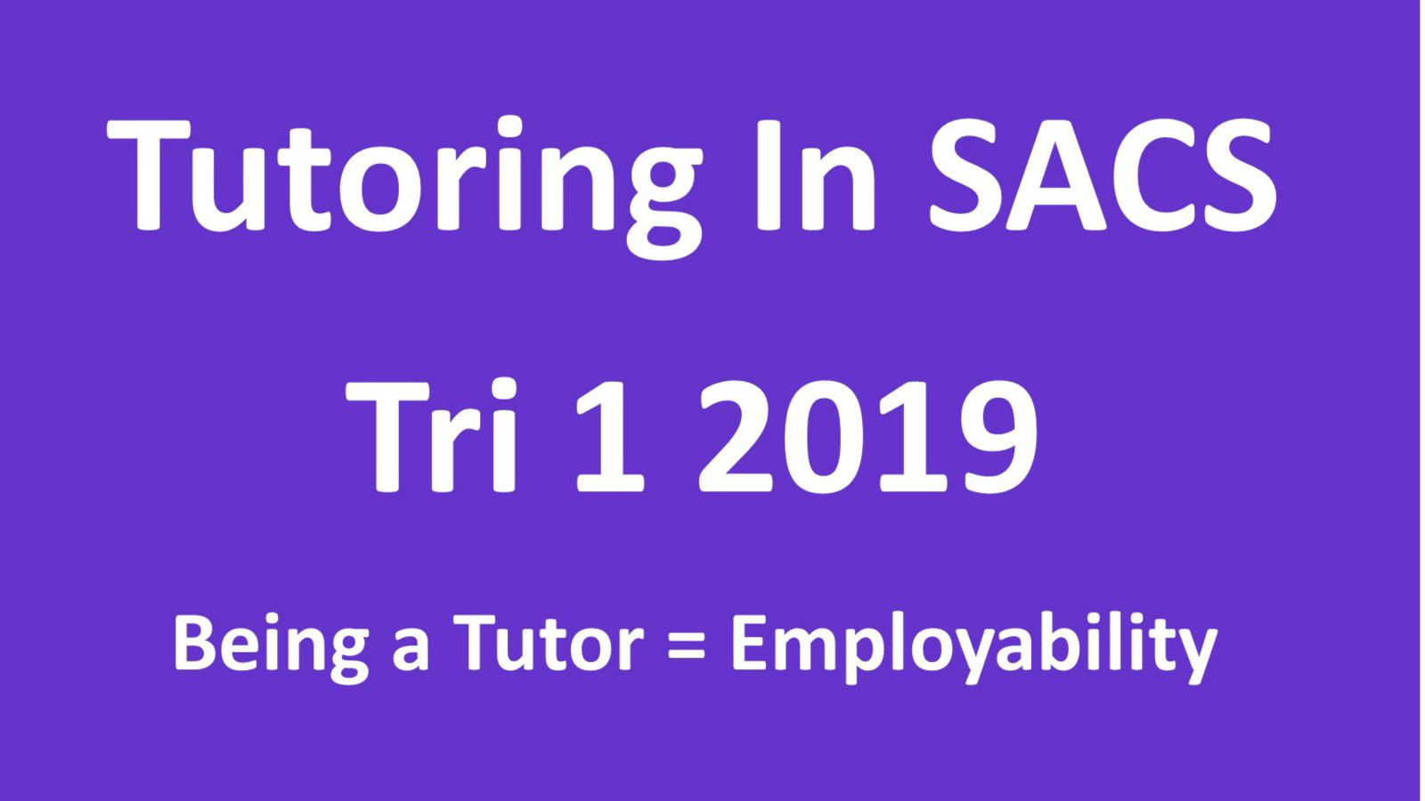 Applications for tutoring poster
