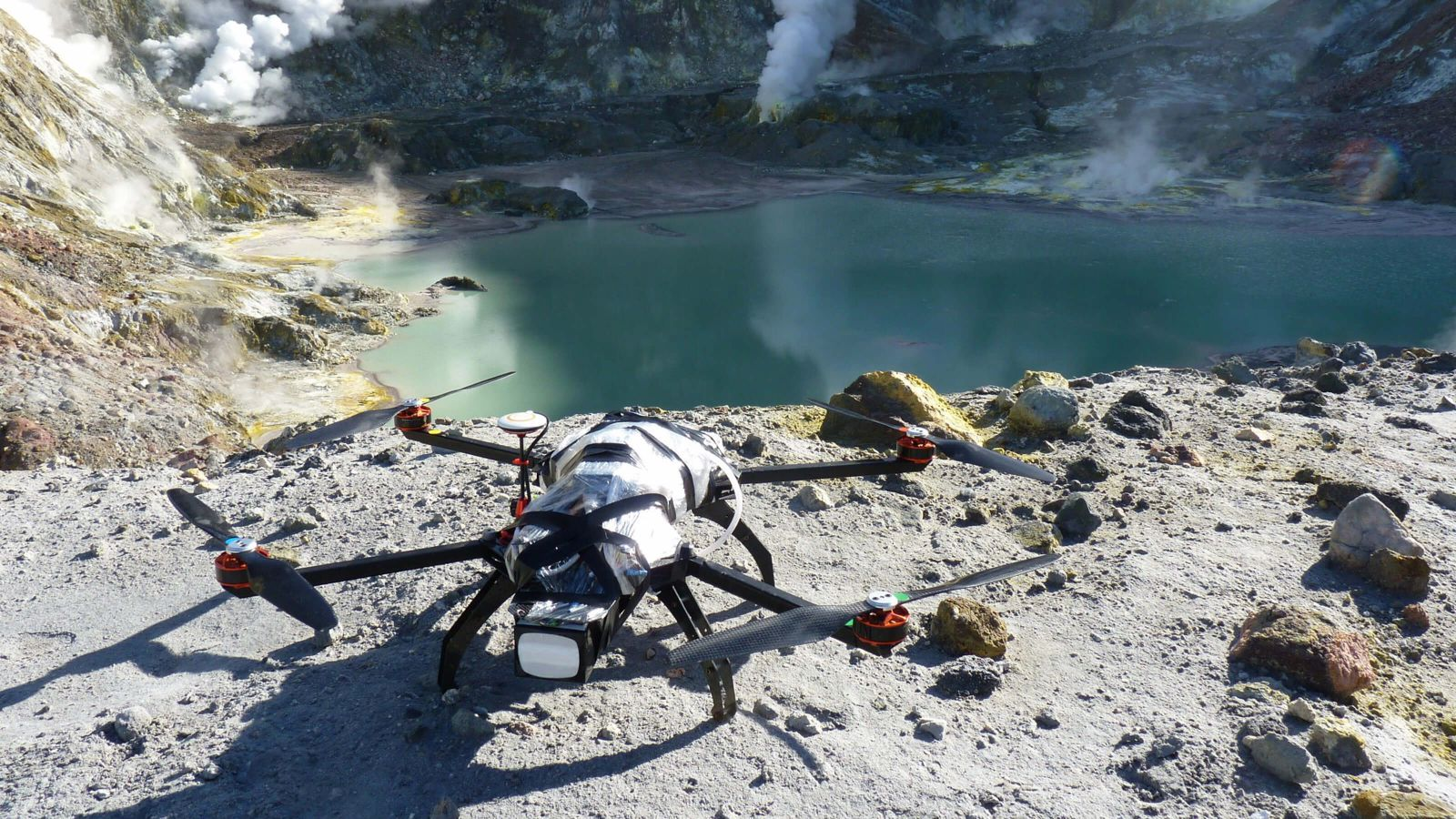 A drone on White Island