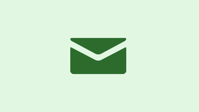 Email inbox - green envelope on light green background