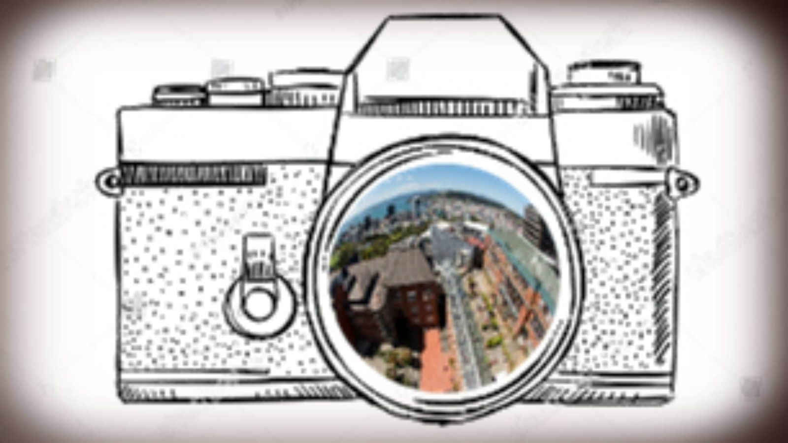 Line drawing of camera