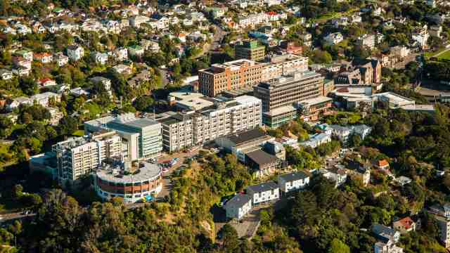 Aerial view of Kelburn Campus