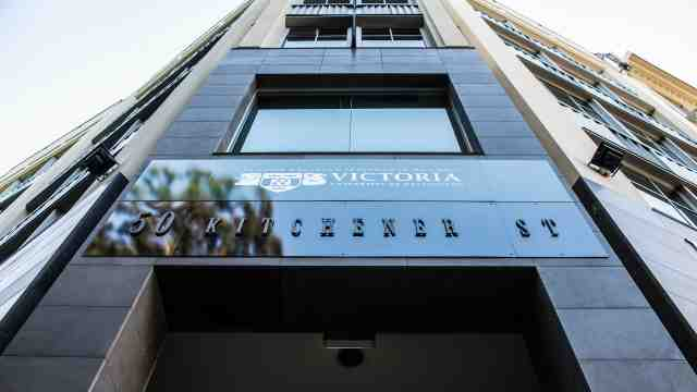 Exterior of Victoria University's Auckland premises