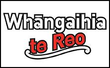 Whaangaihia te reo logo