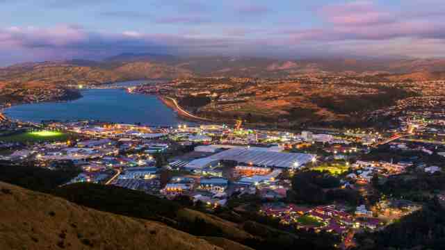 Aerial view of Porirua city