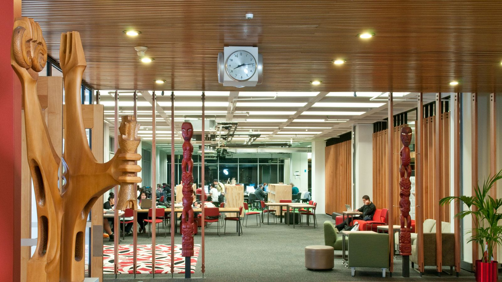 Internal shot of the Kelburn library