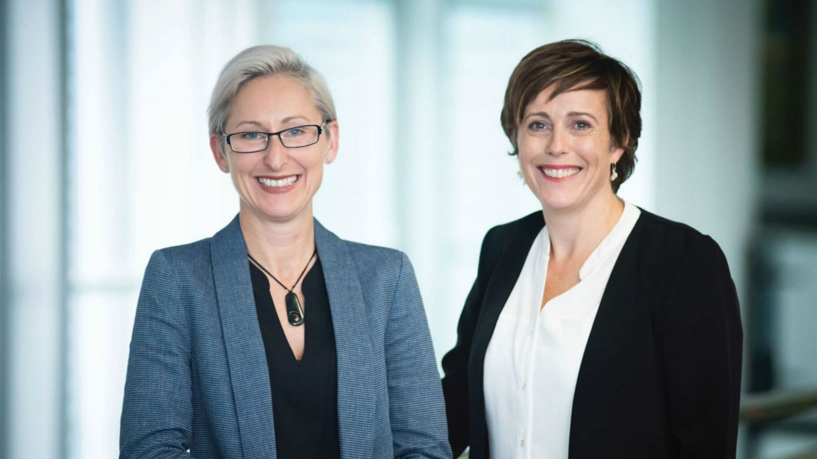 A portrait of Caz Hales and Helen Rook