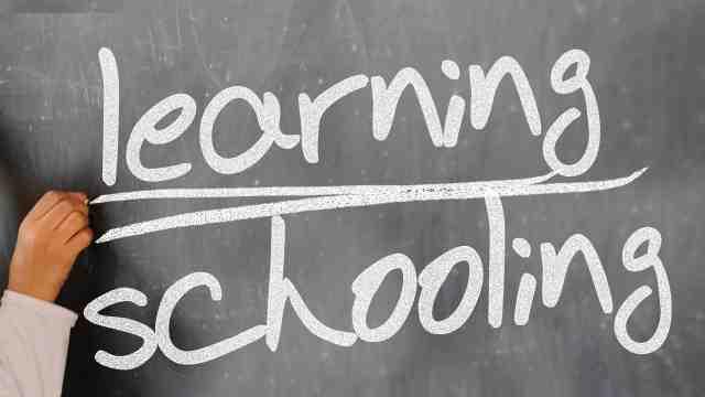 Blackboard that reads learning, schooling.