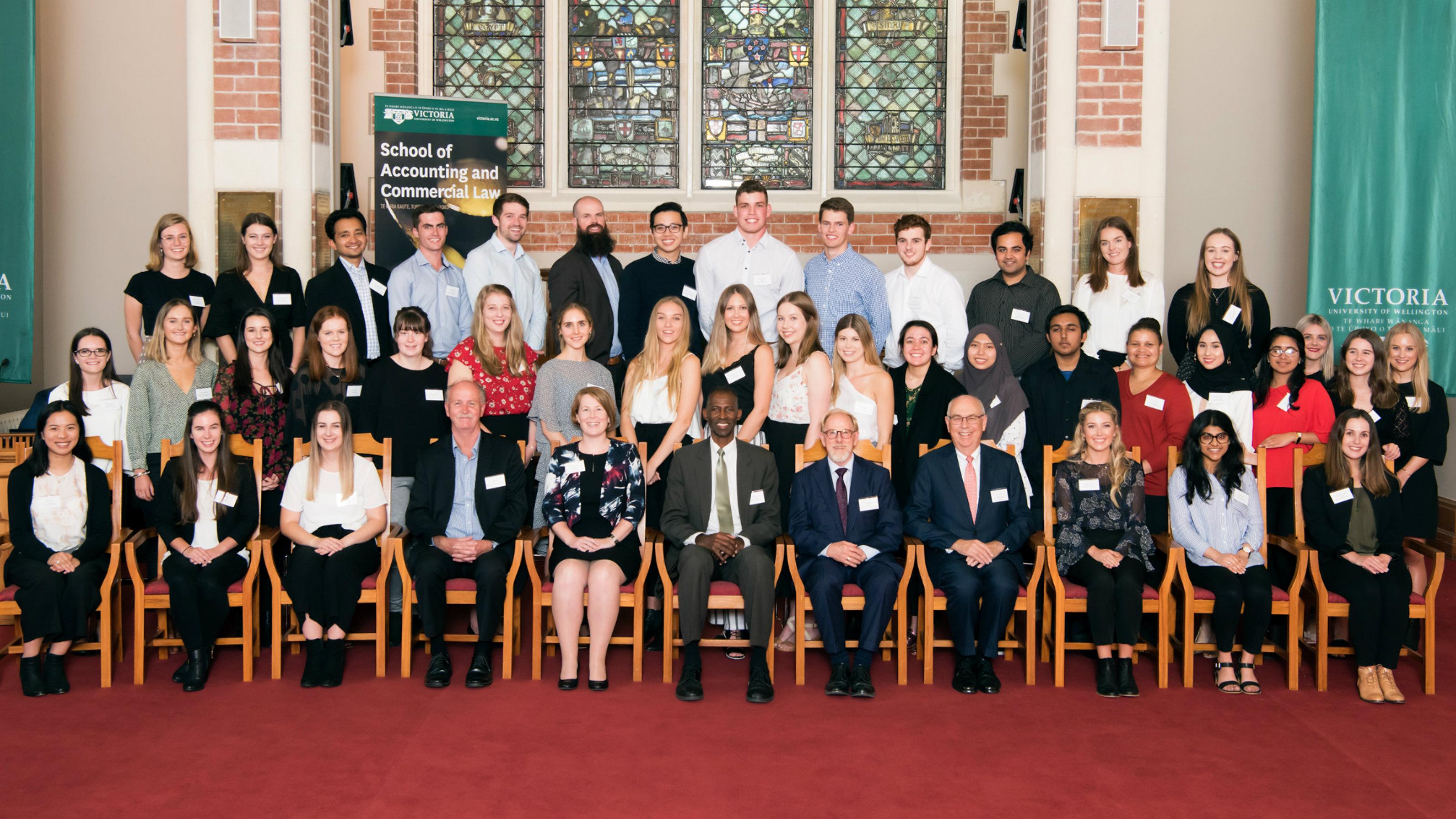 tudent prize-winners, sponsor representatives, and academics